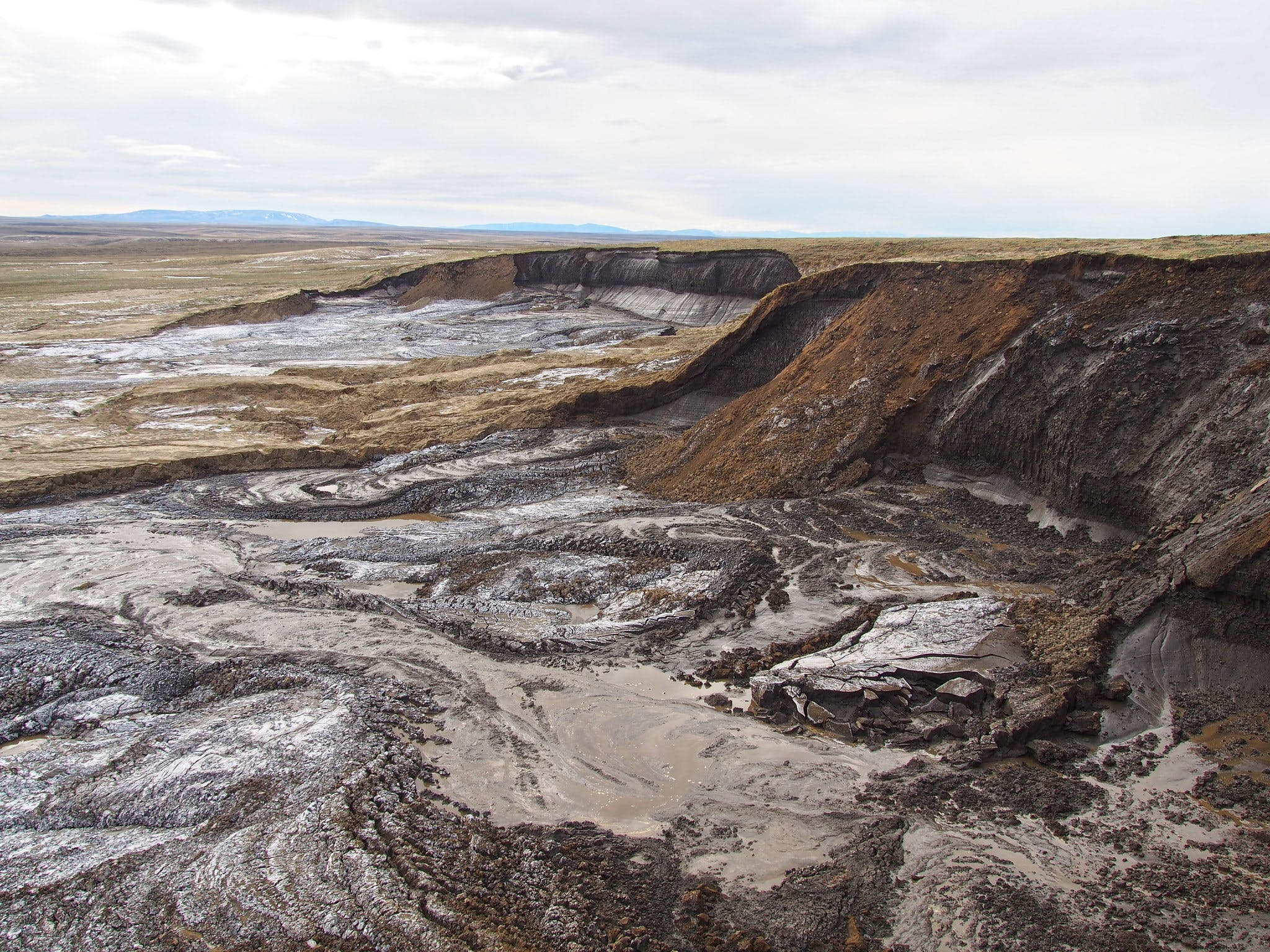 Permafrost thawing damages and disturbs soil