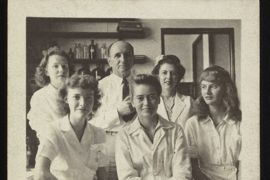 The Institute hopes to crowdsource for the names of the women scientists shown here, unidentified in the original archive.