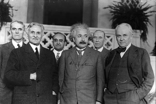 a group of male scientists including albert einstein