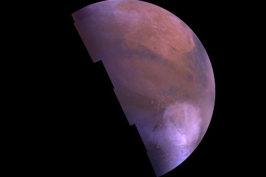 A reconstructed picture of Mars, taken by a Viking orbiter, 1980.