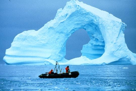 Boat water Antarctica