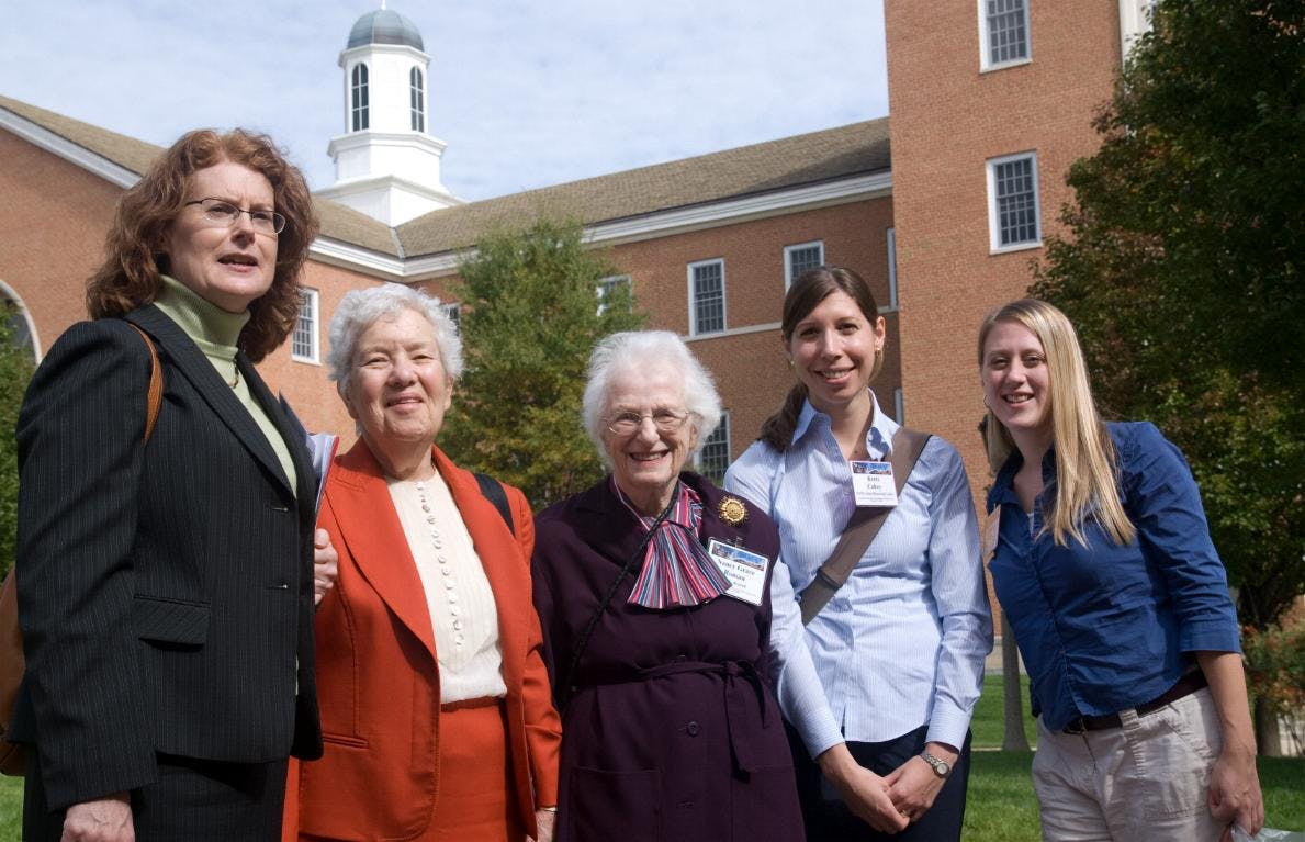 Nancy Grace Roman (center) with astronomer Vera Rubin (second from left)