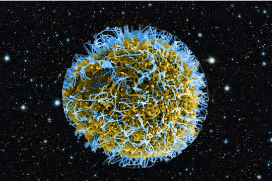 virus with a galaxy background