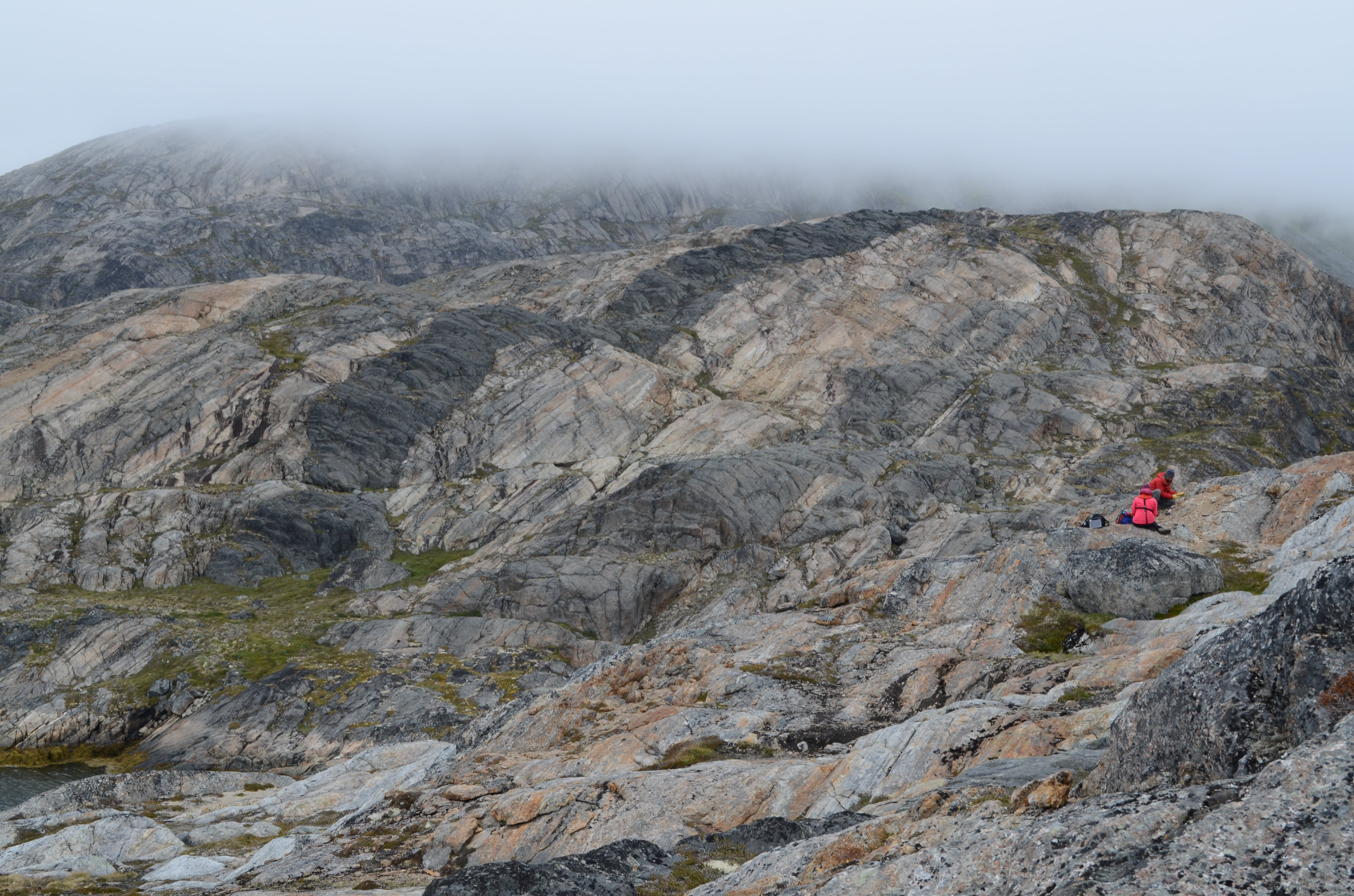 Geologists working in the Maniitsoq area, collecting samples.