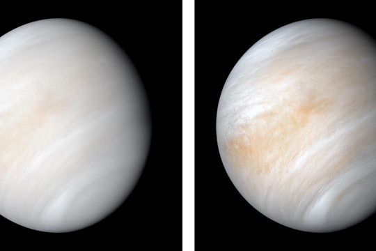 two views of the planet venus