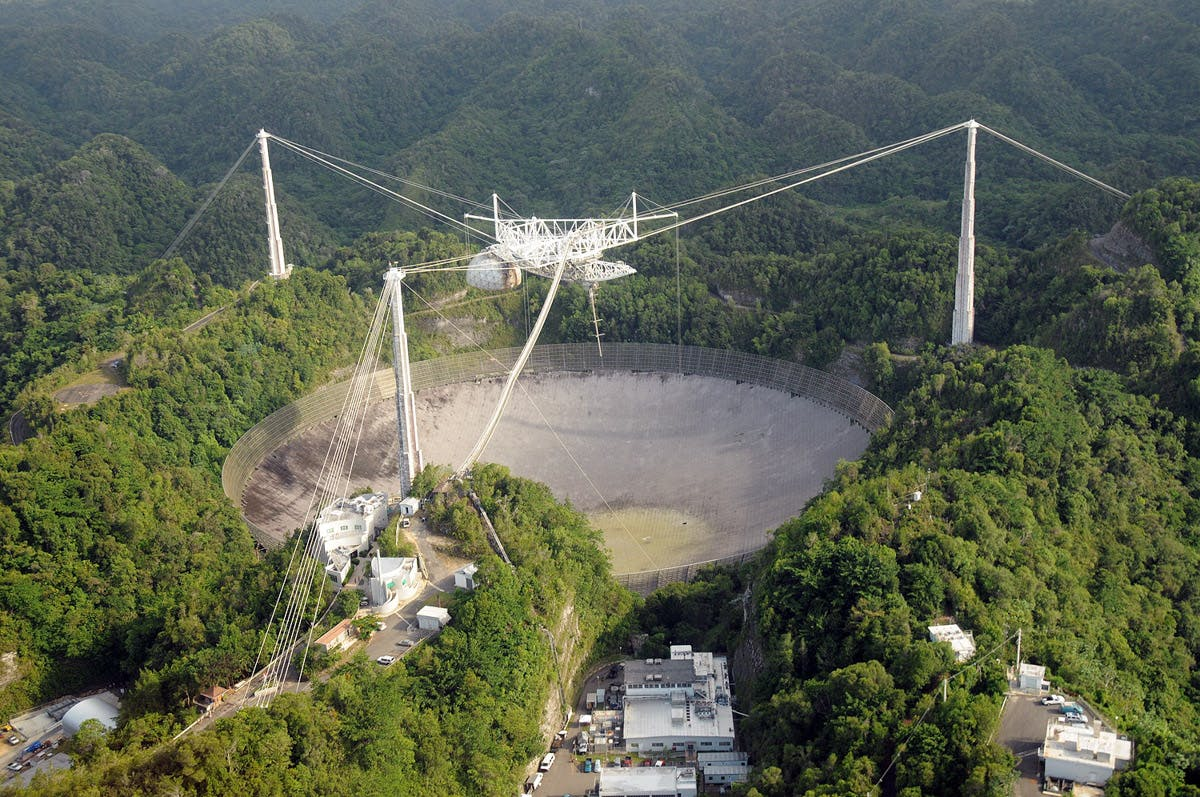Arecibo Observatory from above
