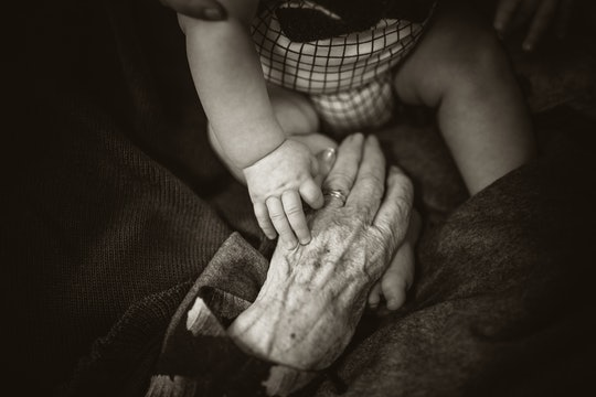 old young hands ageing