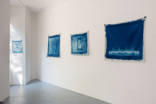 An exhibition of art done using the cyanotype printing process.