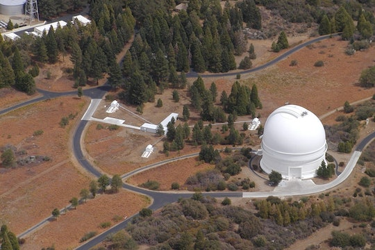 Aerial view of the Palomar Observatory and grounds