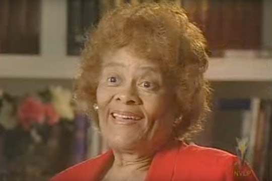 The mathematician Evelyn Boyd Granville speaking during an interview