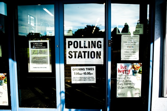 A polling station in the United Kingdom.
