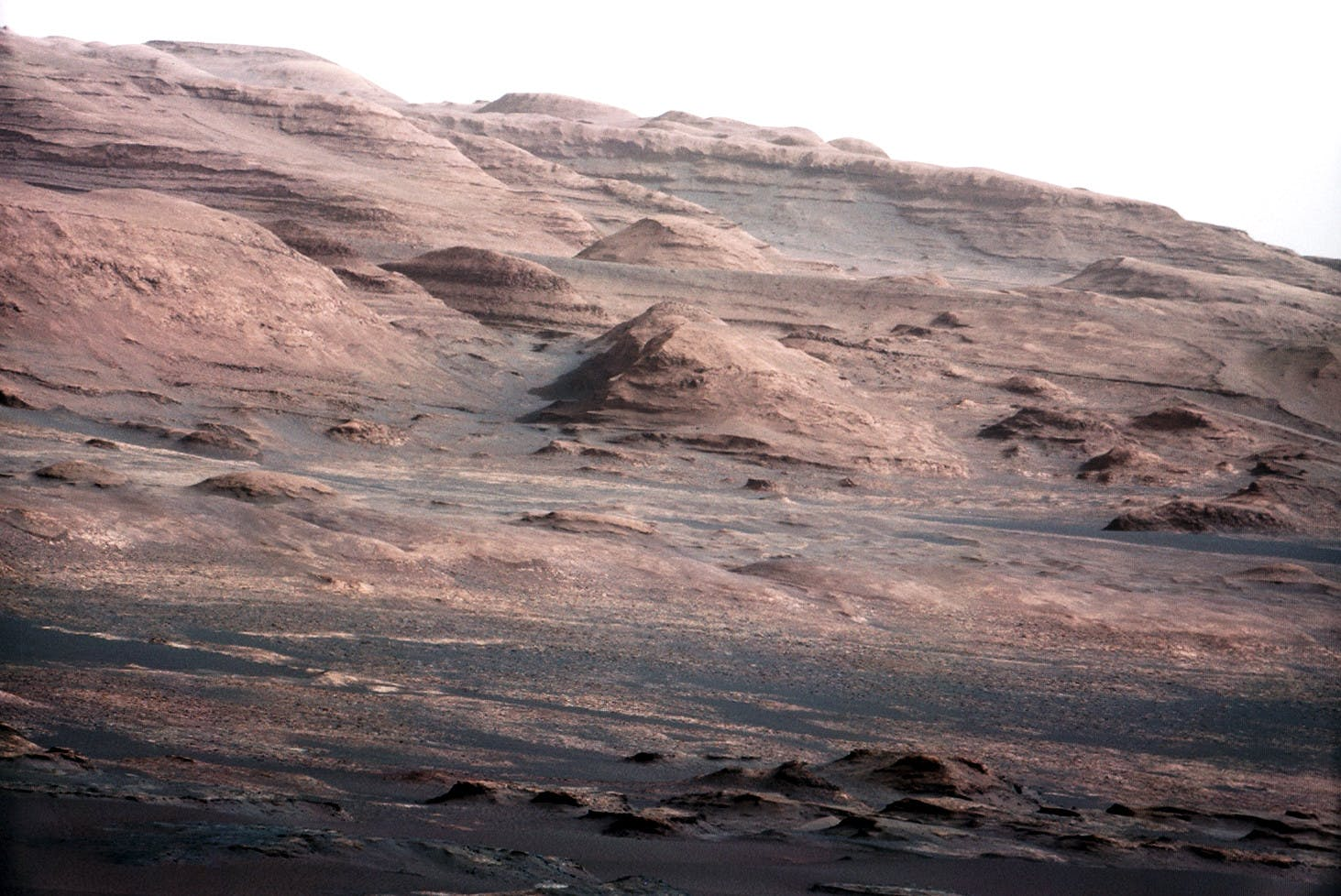 Mars shot from the Curiosity Rover