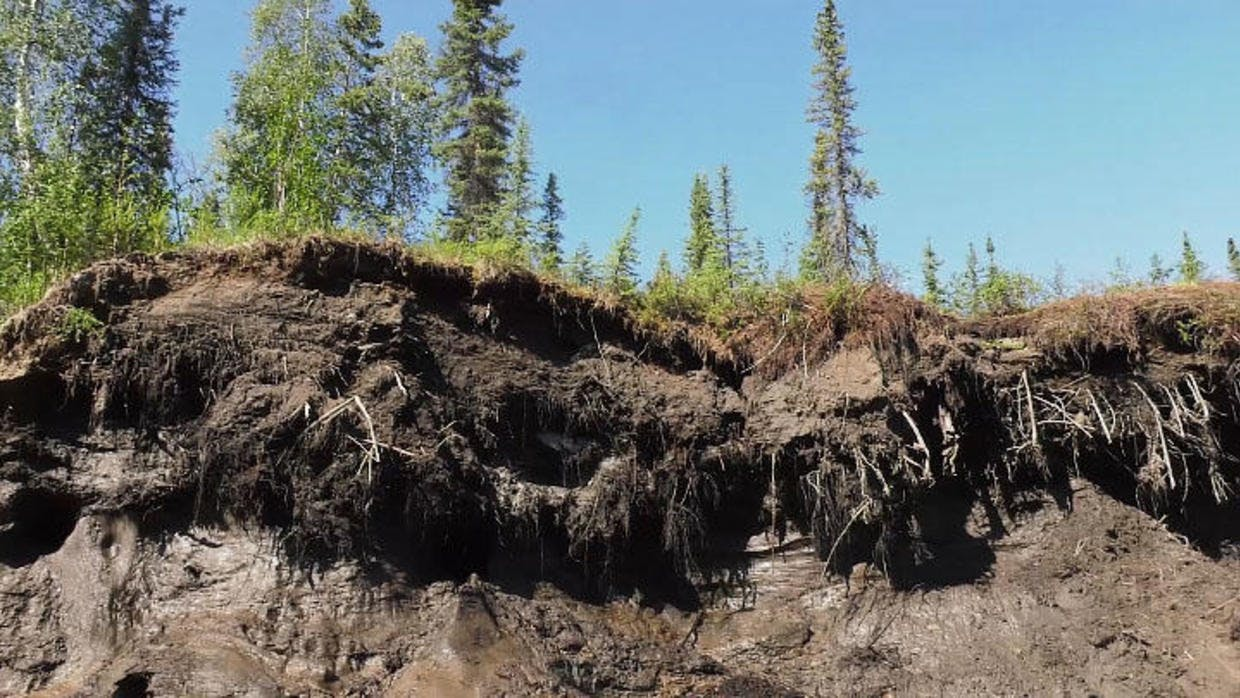 Thawing permafrost in the Arctic