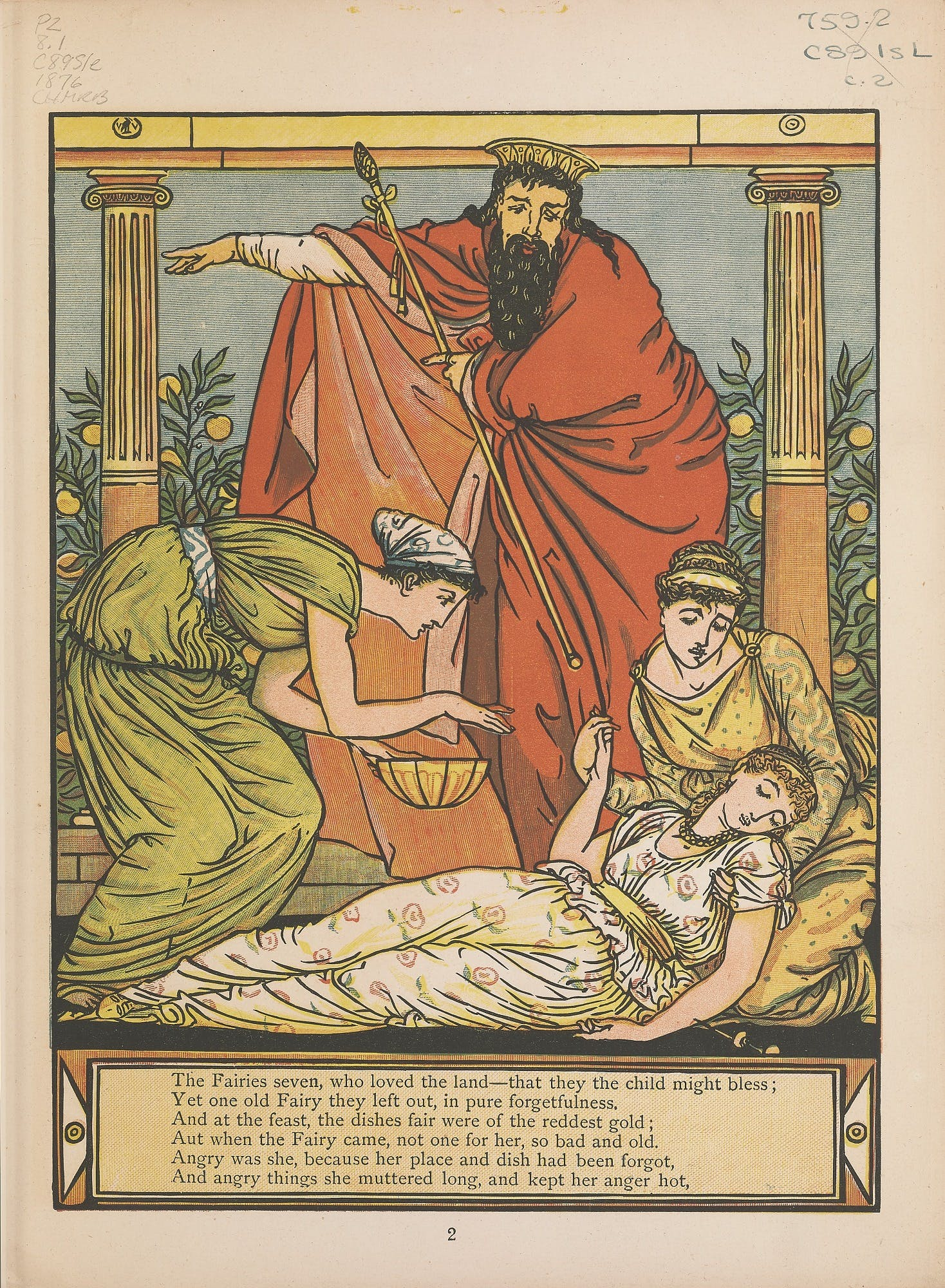 The Sleeping Beauty by Walter Crane (1876)