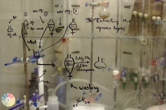 chemistry equations whiteboard lab