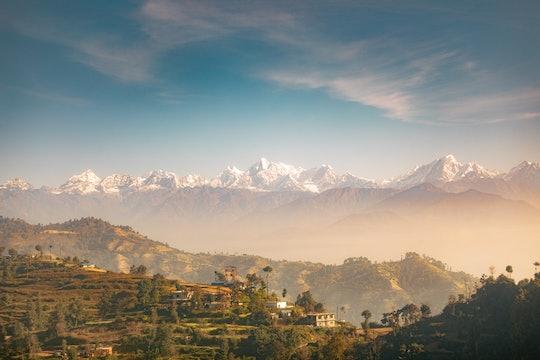 A view of the Himalayas from Katmandu, Nepal