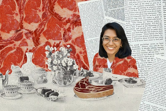 New Harvest founder Isha Datar sitting at a table