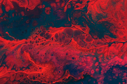 abstract art in red with cells