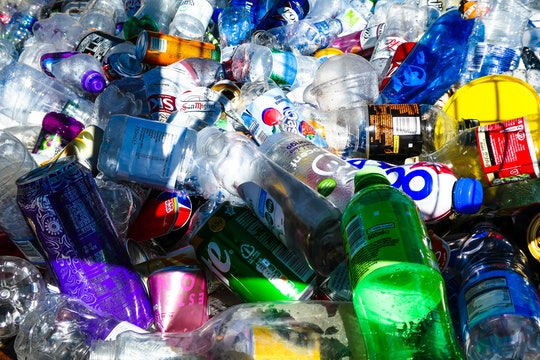 a bunch of plastic drink bottles