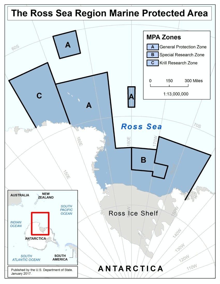 The Ross Sea Marine Protected Areas