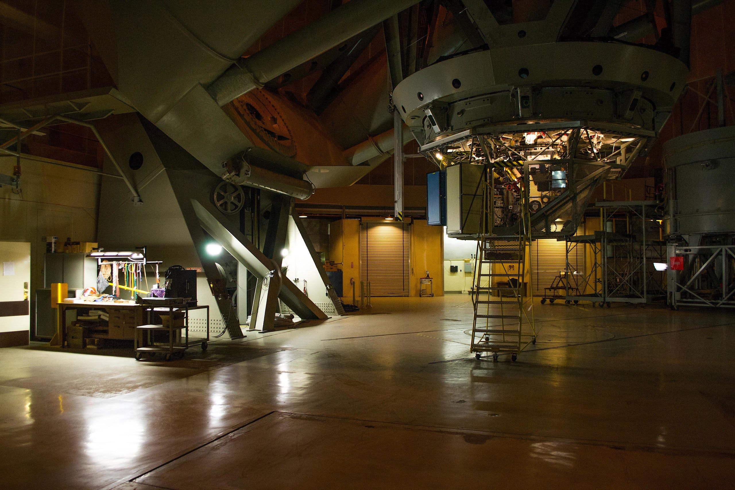 Inside the Palomar Observatory in California