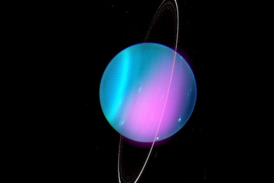Combined optical and X-ray image of Uranus.