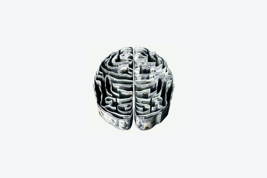 a sketch of a brain-shaped maze against a white background