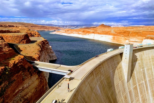 a view of the dam and Colorado river