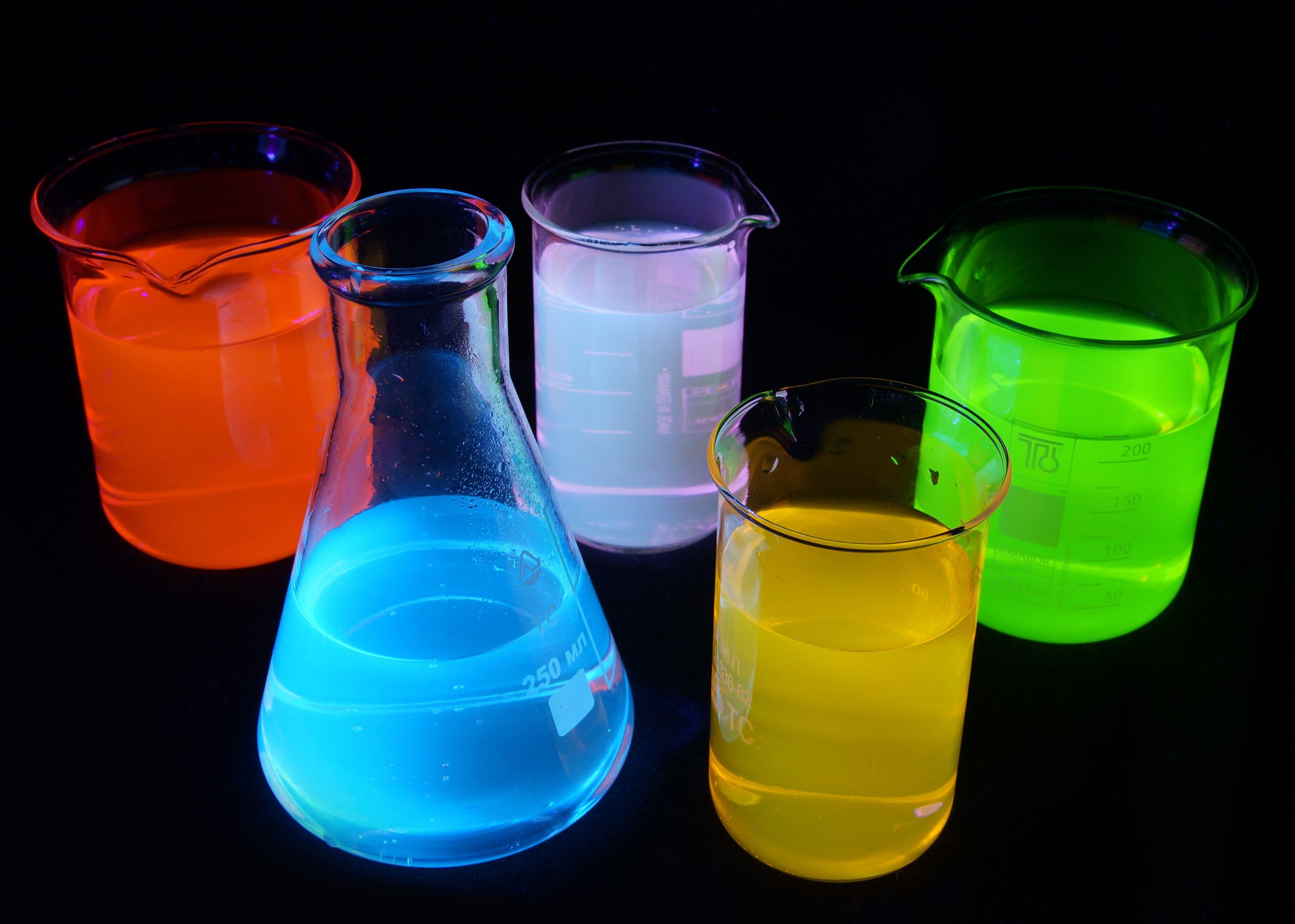 Rainbow test tubes