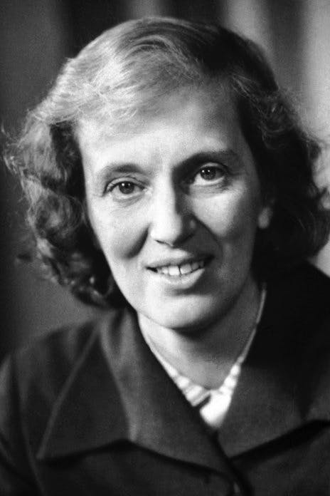 A photo of Dorothy Hodgkin from the Nobel Prize committee.