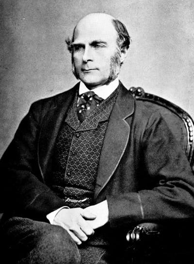 A picture of Francis Galton, founder of eugenics.