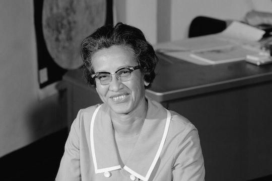 Katherine Johnson At Her Desk at NASA Langley Research Center.