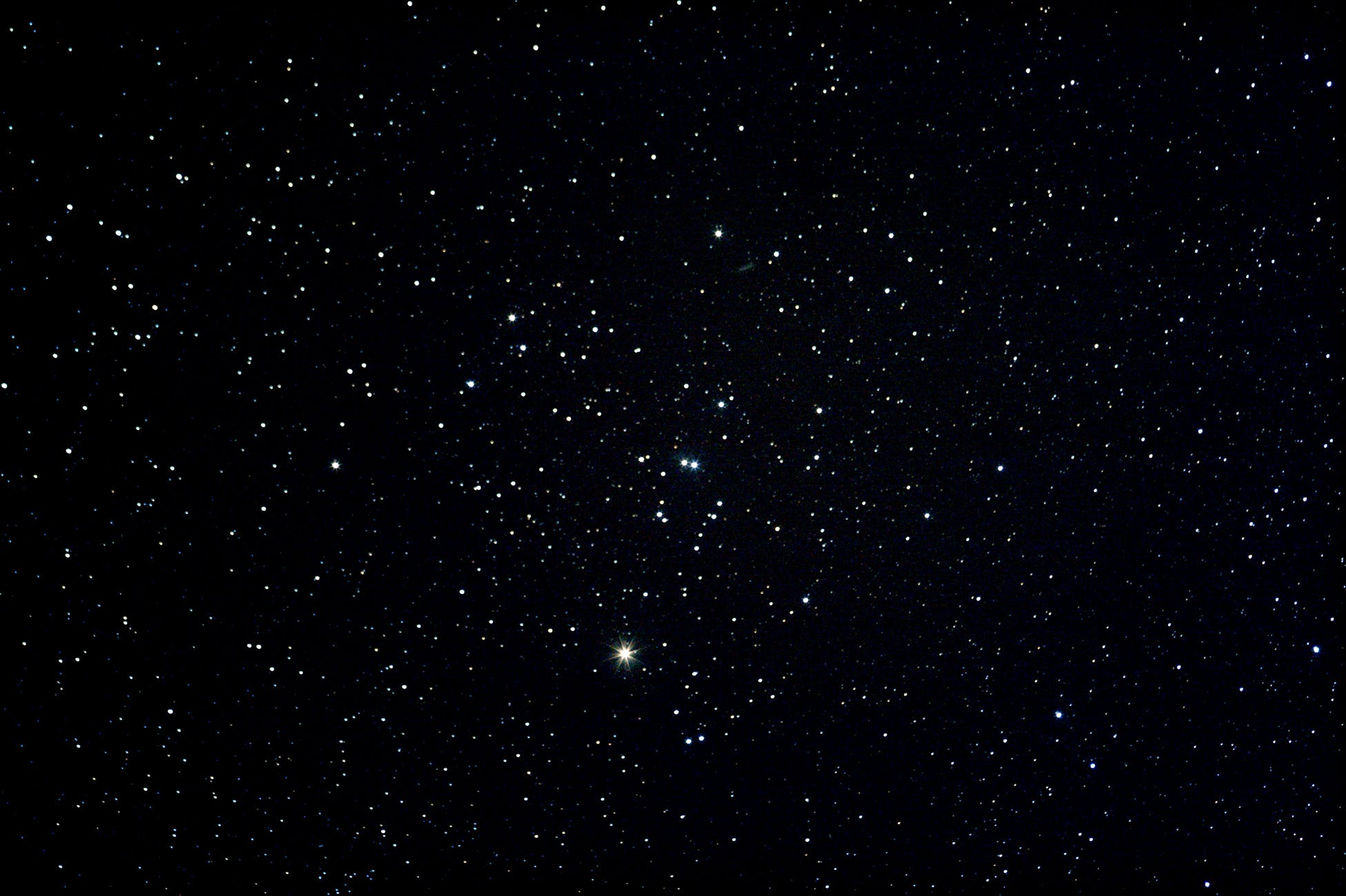 The Hyades cluster of stars in the constellation Taurus