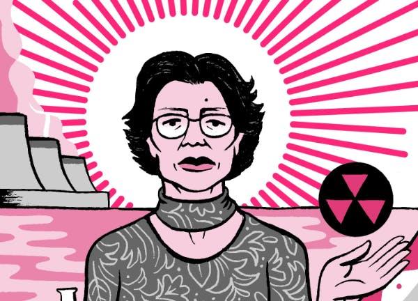 illustration of Katsuko Saruhashi