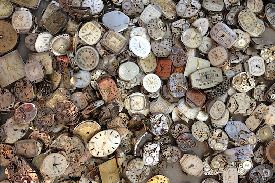 A watchmaker's discard pile of old watches.