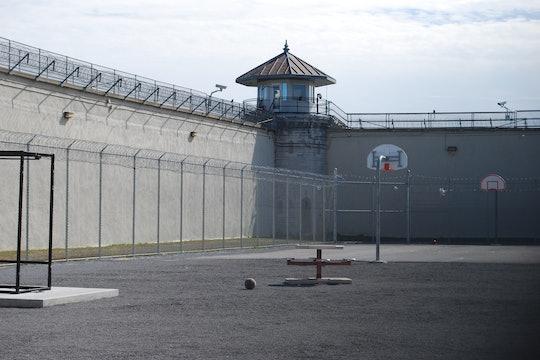 An empty prison yard