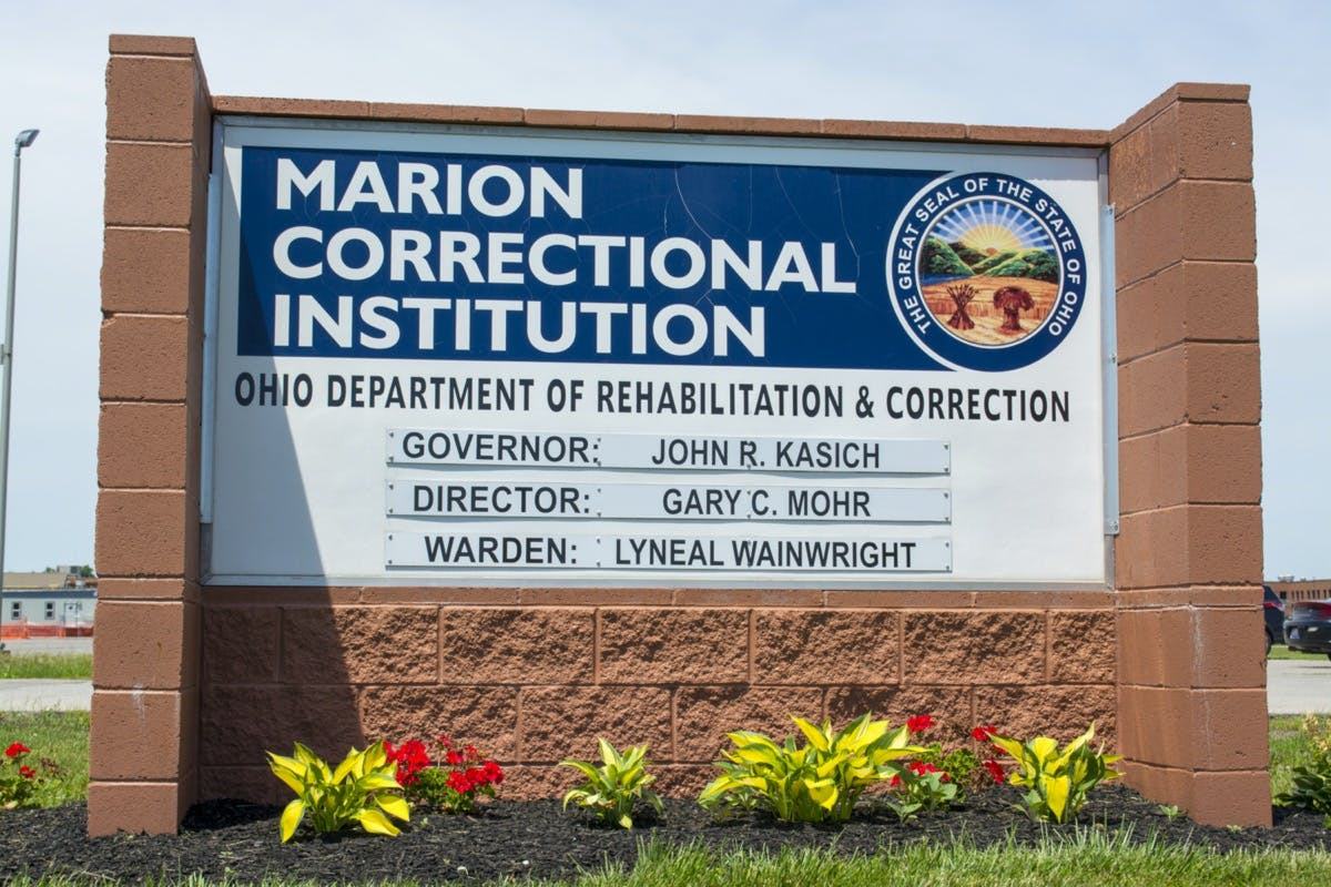 Marion Correctional Institution sign