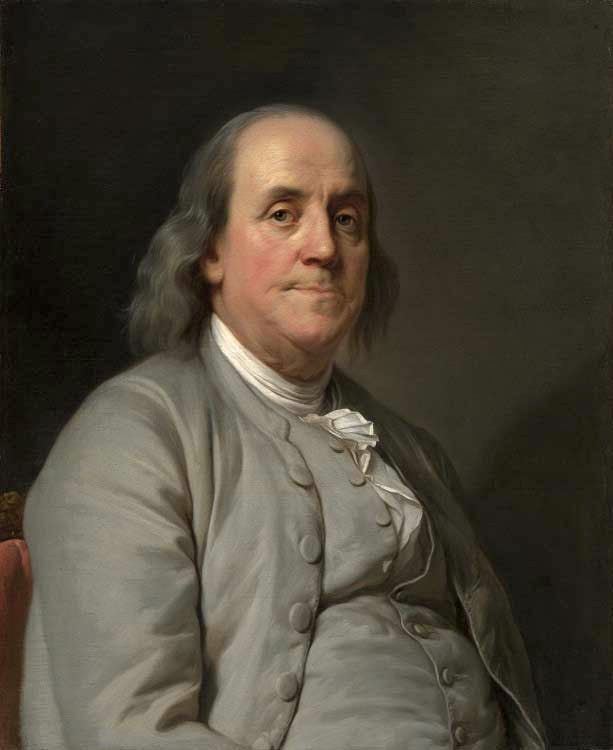 A portrait of Benjamin by Joseph Duplessis. Hanging in the National Portrait Gallery in Washington DC.