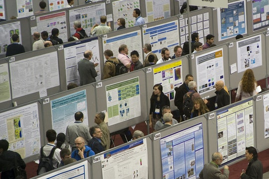 poster session at scientific conference