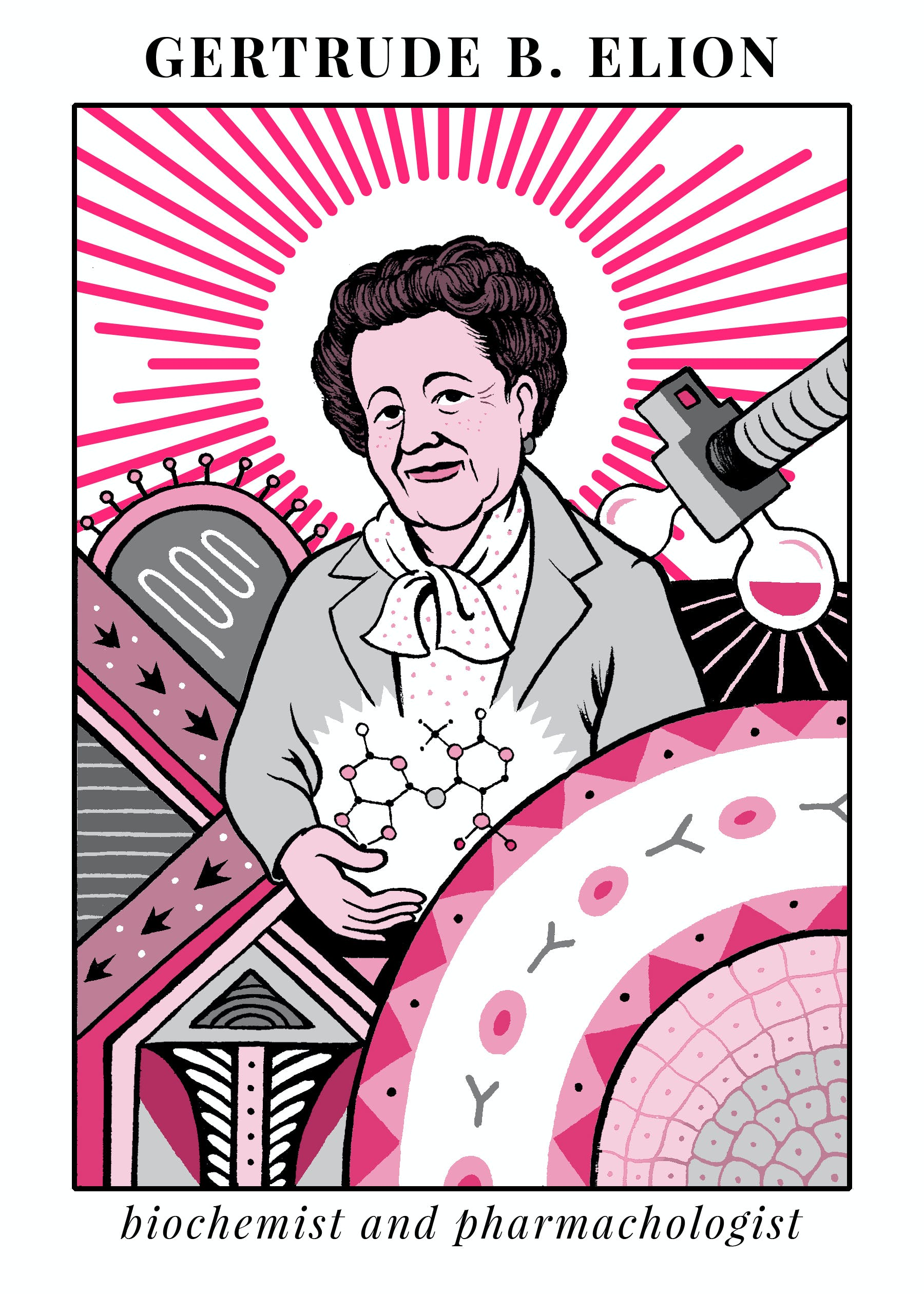 Gertrude Elion illustration