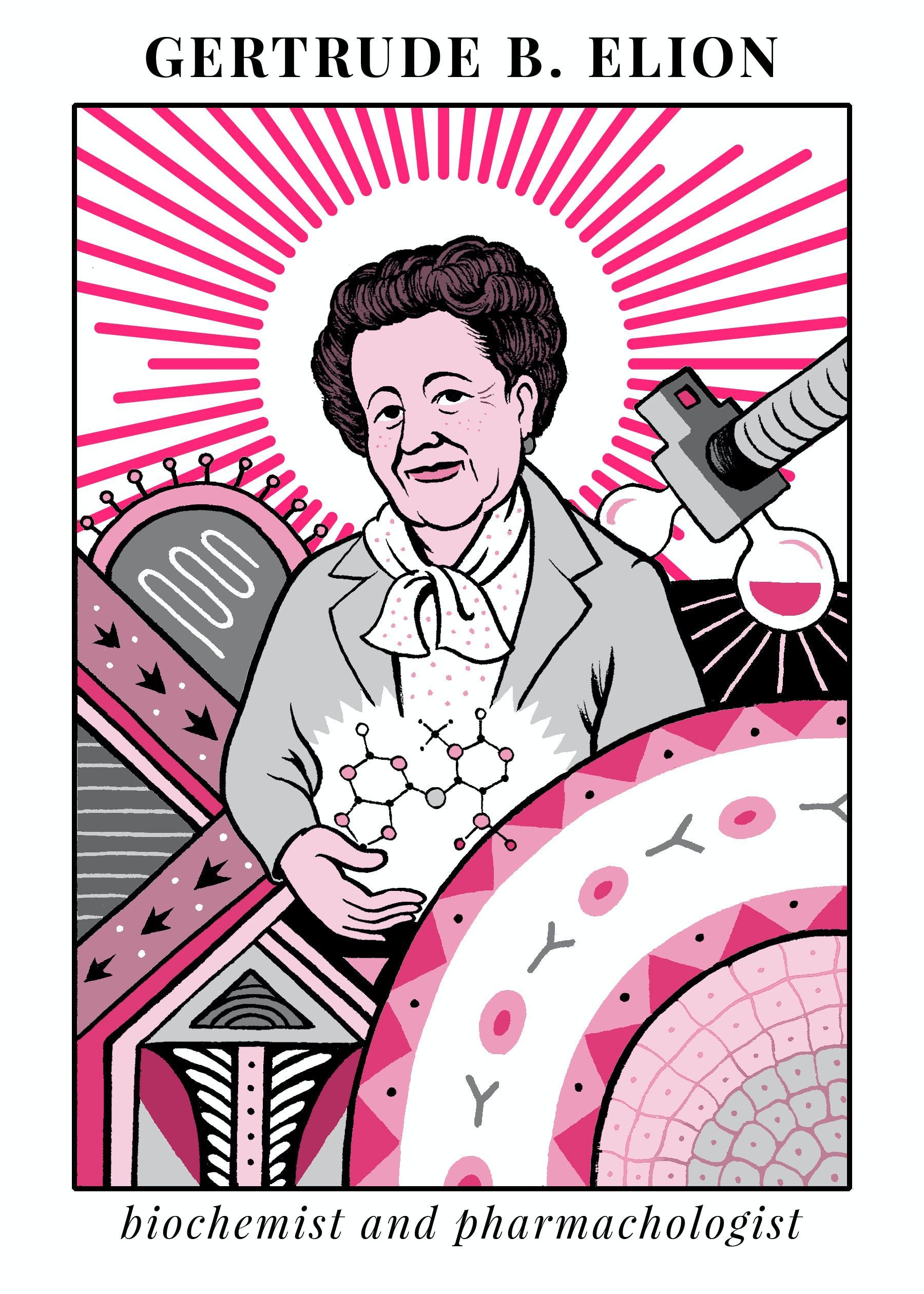 Gertrude Elion illustration