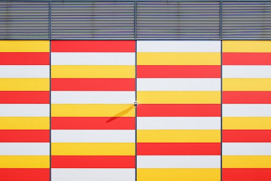 red, yellow, and white bars arranged in a pattern