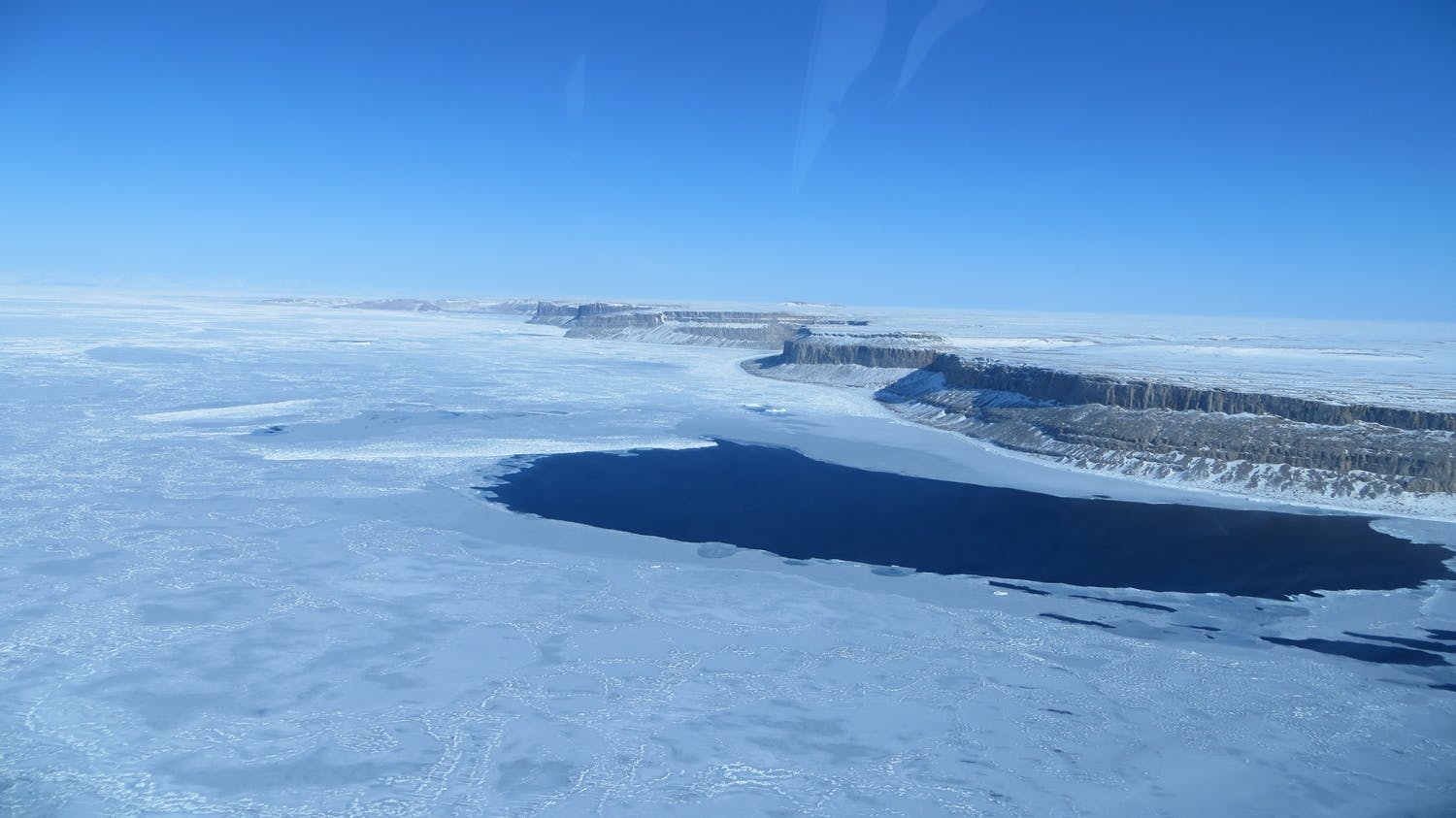 sea ice and land