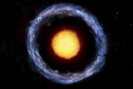 Artist's depiction of Burcin's Galaxy, PGC 1000714