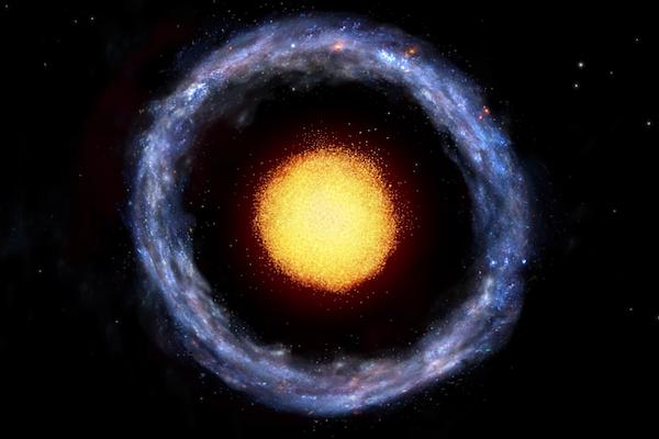 Artist's depiction of Burcin's Galaxy, PGC 1000714